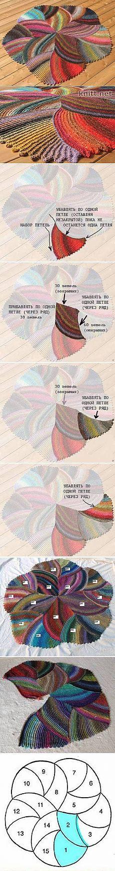 DIY Melange Rug - Knit rug for crochet inspiration Crochet Diy, Crochet Home, Crochet Rugs, Yarn Projects, Knitting Projects, Crochet Projects, Knitting Stitches, Knitting Patterns, Crochet Patterns