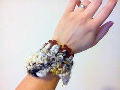 Freeform Bracelet Cuff 2 by Neauveau Fiber Art and Handspun Yarn Shop