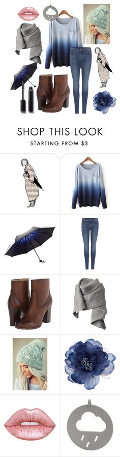 """Rainy but happy"" by silvershadowxx ❤ liked on Polyvore featuring 7 For All Mankind, Frye, Acne Studios, Accessorize, Lime Crime and Chanel"