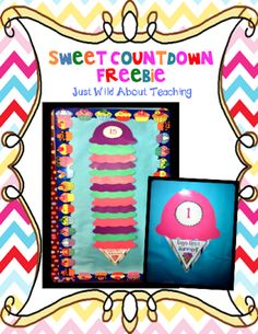 Just Wild About Teaching: Preview Sweet Countdown Freebie !