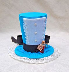 Tiny Top Hat: Alice In Wonderland - Lolita Cosplay Costume Party Fascinator Photo Photography Prop Wedding Tophat Small Miniature little. $40.00, via Etsy.