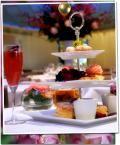 Afternoon tea at Restaurant on the 5th floor of Harvey Nichols, Knightsbridge in London