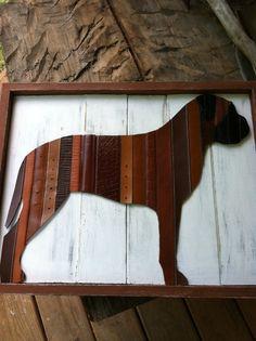 Upcycled Belt Mastiff on Etsy, $55.00