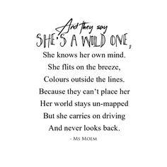 wild one - poem by ms moem @msmoem