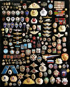 Ussr & Russian Military & Police badges.