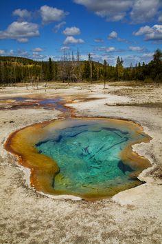 """Termal Pool at Biscuit Basin, Yellowstone NP"" by Galina Semenova"