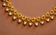 Free Beading Project: Renaissance Diamond Chain Collar - Beading Instructions - Beading Daily