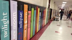 Teachers Decorate School Lockers To Look Like Gigantic Bookshelf