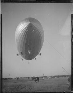 The Hindenburg before she blew up in Lakehurst N.J.