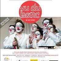 03/10/14. Le Théâtre du Cristal en partenariat avec l'ESAT La Montagne présente Vu du banc de Guy Foissy