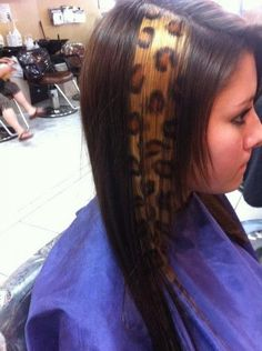 Cheetah Hair Picture  (cheetah hair,animal print hair)