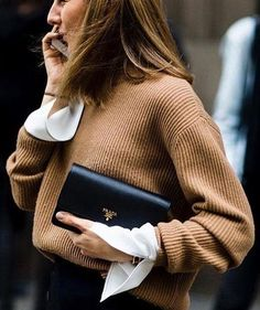 ribbed knit. blouse. details. office style.