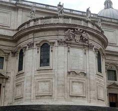 Carlo Rainaldi. Basilica di Santa Maria Maggiore. Facciata posteriore. (Rear facade) 1669-1675