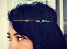 arrow & turquoise headpiece #etsy