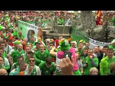 Irish fans #Gdansk Euro2012 - Stand Up For the Boys in Green - full version of irish song in Poland