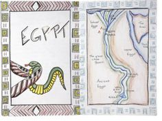 Waldorf ~ grade ~ Ancient Egypt ~ Title Page ~ Map School Grades, 5th Grades, Greek Phrases, Simple Poems, Around The World Theme, Cultural Studies, Fifth Grade, Private School, Ancient Civilizations