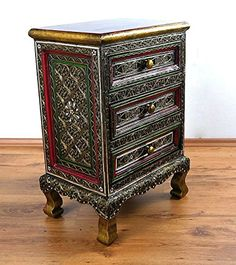 Handmade Asian Chest of Drawers Glass Mosaic LOOK Thai Furniture for sale online Chest Of Drawers, Mosaic Glass, Asian, Thailand, Handmade, Ebay, Furniture, Home Decor, Dresser