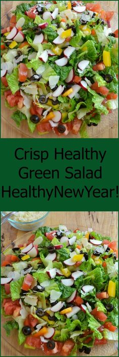 Here's the easy way to make a cool, crisp, refreshing, healthy salad that is perfect every time! Healthy New Year!