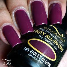 UNITY All-In-One Colour Gel Polish - 145 Violet Bloom | Bio Seaweed Gel Canada
