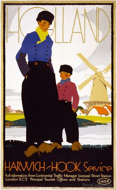 Holland, Harwich-Hook Service, by Austin Cooper, between 1920 and 1930.