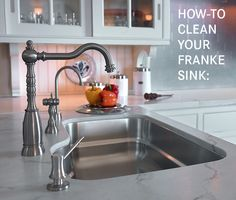 How-to clean your Franke sink.