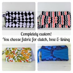 Bridesmaid Clutch Purses  Set of 6 SIX  by TheHumblePenguin, $100.00