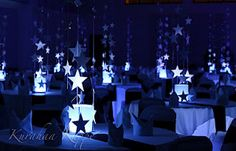 IMG 4303 At Star Themed Wedding Decorations, best images IMG 4303 At Star Themed Wedding Decorations Added on Wedding Decorations Referance Star Centerpieces, Star Decorations, Wedding Centerpieces, Centrepiece Ideas, Star Wars Party, Star Party, Prom Decor, Wedding Reception Decorations, Wedding Themes