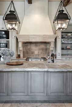 716d21bf657 Beautifully faux finished kitchen cabinets in a blended French country  kitchen style with Old World charm and a few transitional kitchen design  ideas.