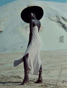 """somerollingstone: """" Tricia Akello by Ross Garrett for Marie Claire South Africa December 2015 """""""