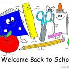 Back to School Clipart - Irene's Doodles - Smiling School Supplies  Put a smile on your students' faces with this image of a smiling book, ruler, s...