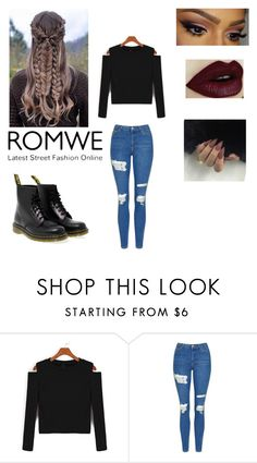 """""""Untitled #65"""" by lookinbeauty ❤ liked on Polyvore featuring Topshop and Dr. Martens"""
