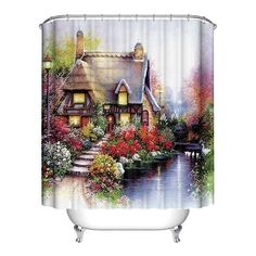 2017 Mermaid Shower Curtain Abstract Animal Scenery Sea World Polyester Western Curtains 18 Options One Sze