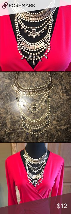 Necklace Statement necklace piece worn once.. fashion jewelry Jewelry Necklaces