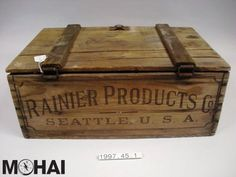 """Rainier crate c. 1920-1927. During Prohibition, the Rainier Brewing Company produced products like industrial alcohol, root beer, ginger ale, and """"near beer"""" which contained no more than 0.5% alcohol by volume. #dryMOHAI #Prohibition #RainierBeer"""