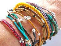 Bracelets tressés avec des perles -DIY
