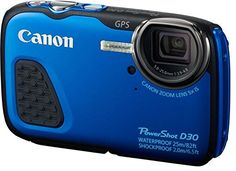 Canon PowerShot D30 Point and Shoot Digital Camera (12.1MP, 5x Optical Zoom)…