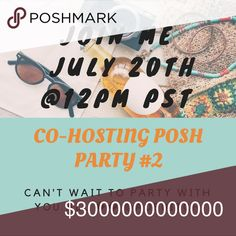Co-hosting Party #2 🎉🎊 I'm co-hosting party #2 🎉🎊 it's gonna be fun! 😎July 20th @12pm PST hope you can join me! Once the theme and co-hosts are announced I can start looking for Host Picks🤗 Louis Vuitton Bags