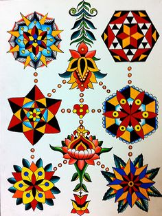 Mandala Sheet 2012.  Robert Ryan - with explanations of his approach/inspiration re: mandalas.