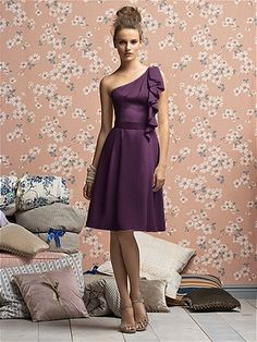 Check out the website!!! There r some cute dresses, maybe an option?  There is a one shouldered dress pictured in a deep purple with the draped loop over the one shoulder!!!  Really cute!!  Maybe they have in the grey u want?!?