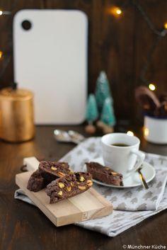 Cantuccini mit Schokolade und Pistazien
