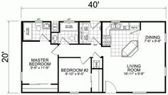 Little House on the Trailer - affordable small modular homes. 20 x 40 Floor Plan = $42,800 (fully built)