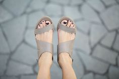 Leather Sandals Handmade Sandals Wedges by abramey