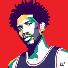@joelembiid  #NBA #76ers #trusttheprocess #graphicdesign #artwork #design #philly #philasixers #sixers #wpapart #wpapartportrait #greatness #21 #leader