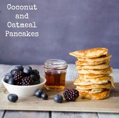 These soft fluffy pancakes are made using coconut flour and oatmeal, so they are wholesome and filling. As well as being high in protein and fibre (and therefore super healthy) they are freeza…
