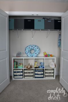 Nursery Organization: how to tame baby's closet