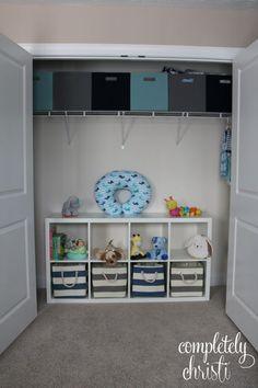 Nursery Organization: how to tame baby's closet