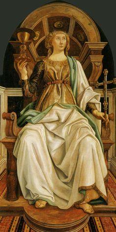 Sandro Botticelli and Piero del PollaIuolo, Faith Renaissance Kunst, Renaissance Paintings, Italian Renaissance, Giorgio Vasari, Italian Painters, Italian Artist, Caravaggio, Dame Justice, Galerie Des Offices