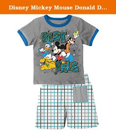 Disney Mickey Mouse Donald Duck Goofy Pluto Best Pals T Shirt Short Set (4T). Officially Licensed Disney Merchandise. Featuring Mickey Mouse, Donald Duck, Goofy, and Pluto. Children Sizing. First Quality Product No IR's!!. Great for your child or gift.