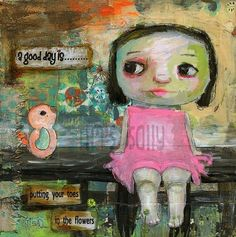 Adorably whimsical art by Mindy Lacefield  ^.^