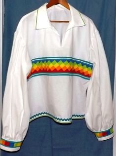 Mens Patchwork Shirt Native American style in 100 percent cottonbyUmbra